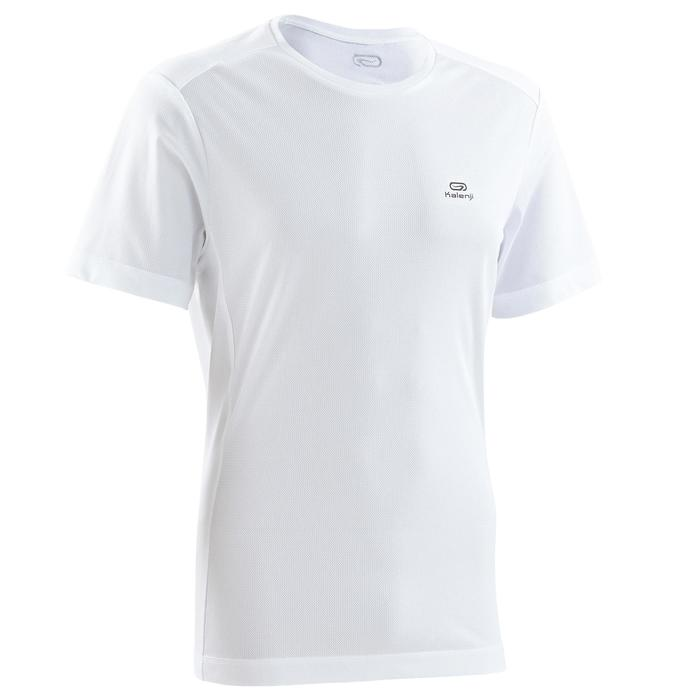 T SHIRT RUNNING HOMME RUN DRY BLANC