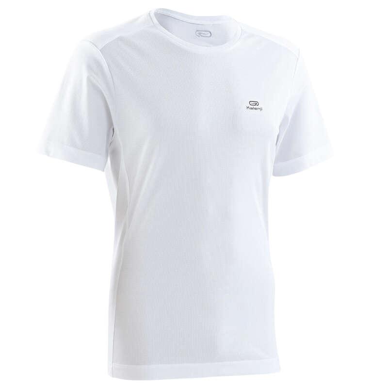 ABBIGLIAMENTO TRASPIRANTE UOMO RUNNING OCCASIONALE Running, Trail, Atletica - T-shirt uomo RUN DRY bianca  KALENJI - Running, Trail, Atletica