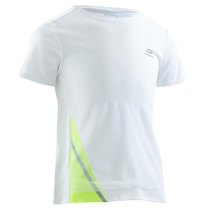 Tee shirt athlétisme enfant run dry dossard blanc - 1260071