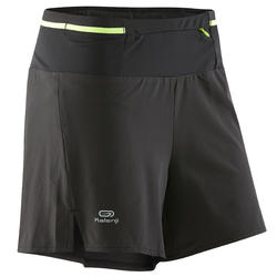 Women's trail running baggy shorts - Black/Yellow