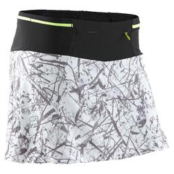 Women's trail running skort - graph white