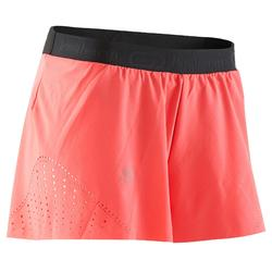 Loopshort dames Kiprun Light Kalenji koraalrood