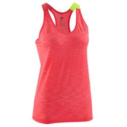 KALENJI KIPRUN CARE WOMEN'S RUNNING TANK TOP CORAL