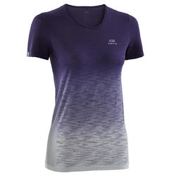 KALENJI KIPRUN CARE WOMEN'S RUNNING T-SHIRT - PURPLE