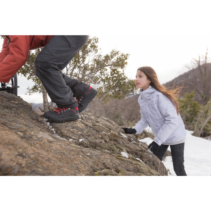 Warme en waterdichte wandelschoenen voor de sneeuw SH100 Warm kinderen veters
