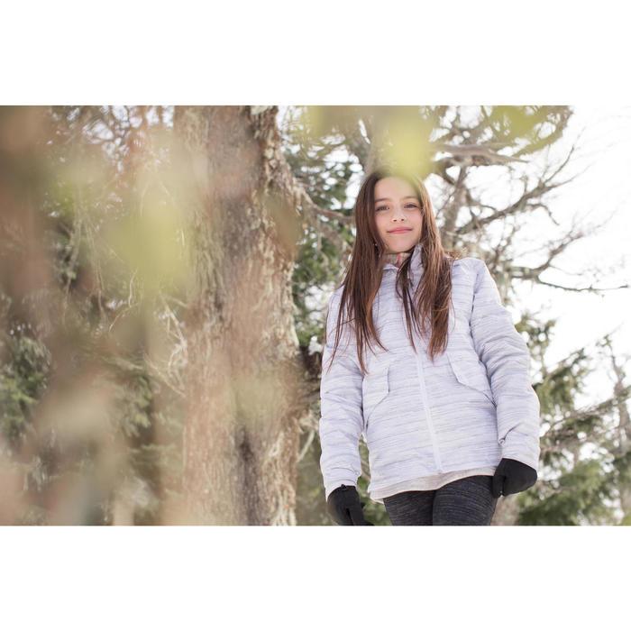 Veste chaude imperméable de randonnée neige SH100 WARM fille 8-14 ans grise