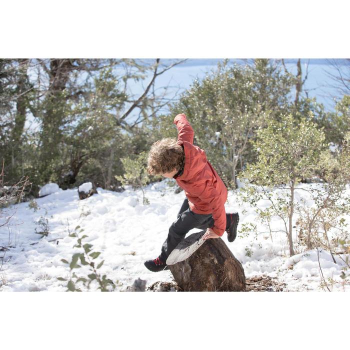 Pantalon chaud de randonnée SH100 WARM garçon 8-14 ans gris