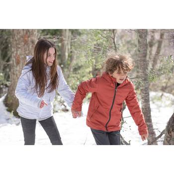 Veste chaude de randonnée neige SH100 WARM garçon 8-14 ans grise