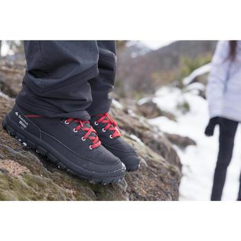 Winterschuhe Winterwandern SH100 Warm wasserdicht Kinder schwarz