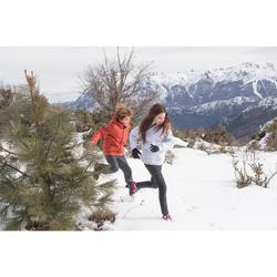 Kinder wandelschoenen voor de sneeuw SH100 Warm veters mid zwart