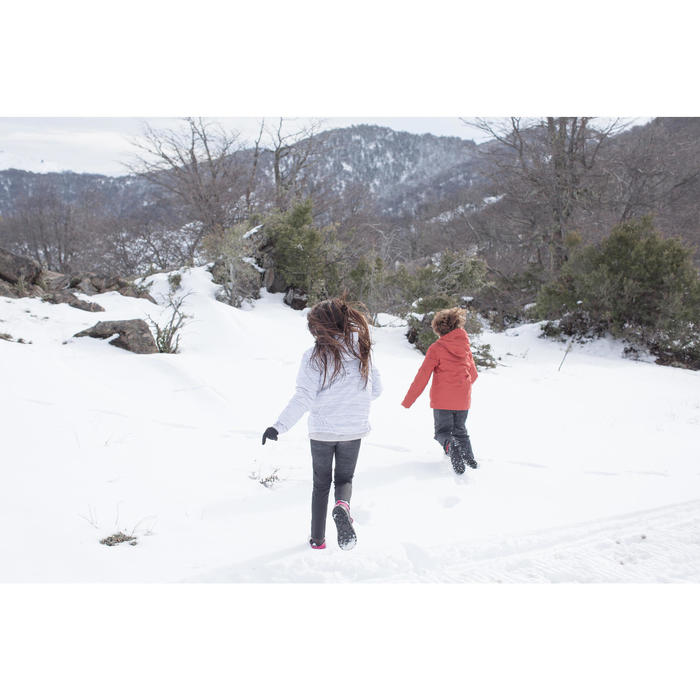 Kinder wandelschoenen voor de sneeuw SH100 Warm veters mid roze