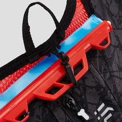 10 L TRAIL RUNNING BAG UNISEX - BLACK AND RED