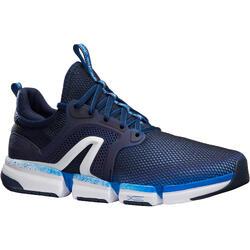 Herensneakers voor sportief wandelen PW 590 Xtense grijs / geel
