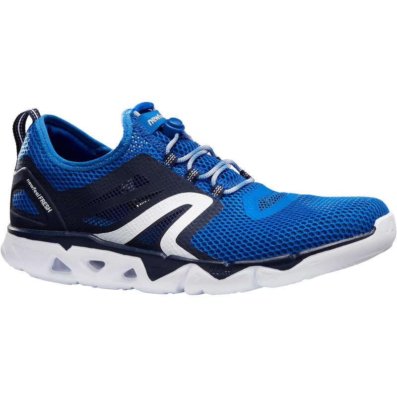 MEN SPORT WALKING SHOES Power Walking - PW 500 Fresh - Blue NEWFEEL - Walking Trainers