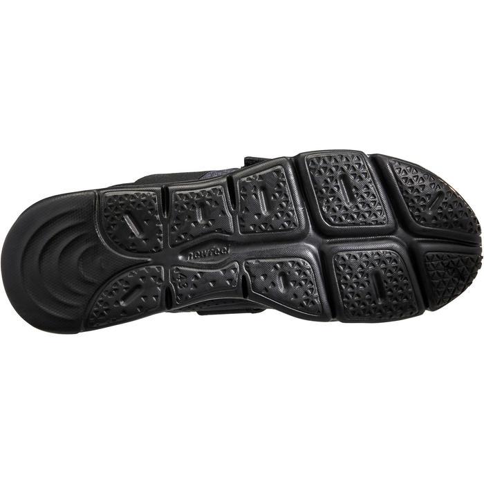 Herensneakers voor sportief wandelen Soft 180 strap zwart
