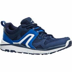 Herensneakers voor sportief wandelen HW 500 mesh marineblauw