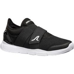 Zapatillas Velcro Marcha Deportiva Newfeel Soft 180 mujer negro y blanco