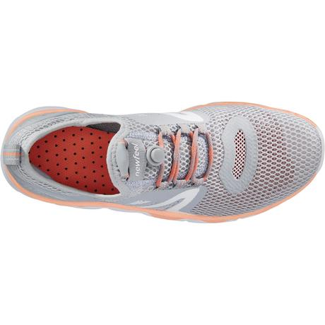 28ae8be0a51 Chaussures marche sportive femme PW 500 Fresh gris   corail. Previous. Next