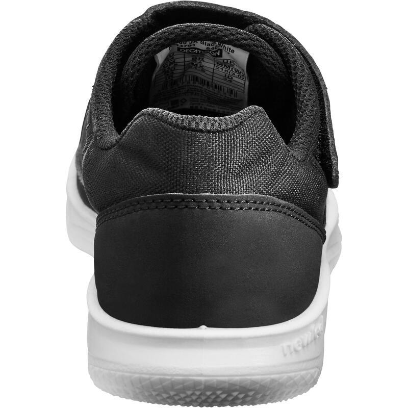 PW 100 Kids' Walking Shoes - Black/White