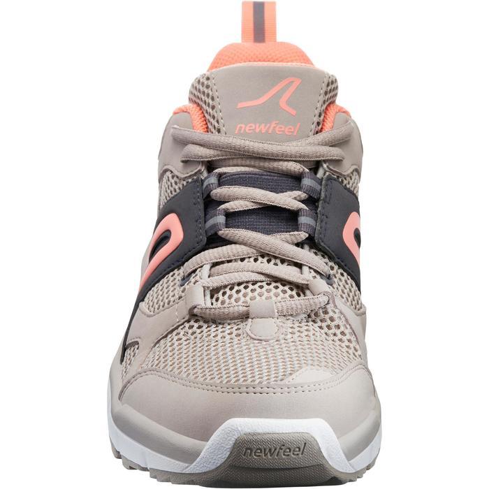 Zapatillas de marcha deportiva para mujer HW 500 Mesh beige