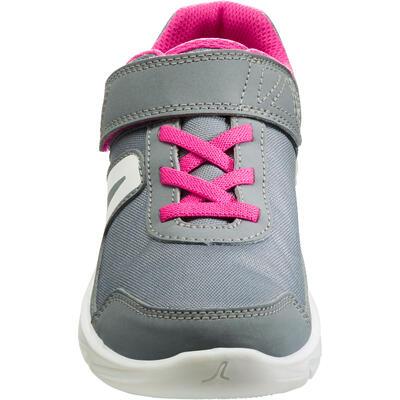 נעלי הליכה ספורטיביות לילדים דגם PW 100 - אפור/ורוד