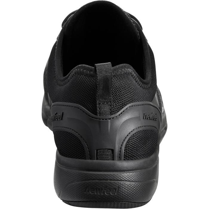 Herensneakers voor sportief wandelen Soft 540 mesh full zwart