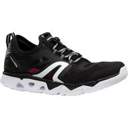 Zapatillas Caminar Newfeel PW 500 Fresh Mujer Negro/Blanco