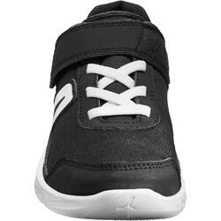 Kindersneakers PW 100 zwart/wit