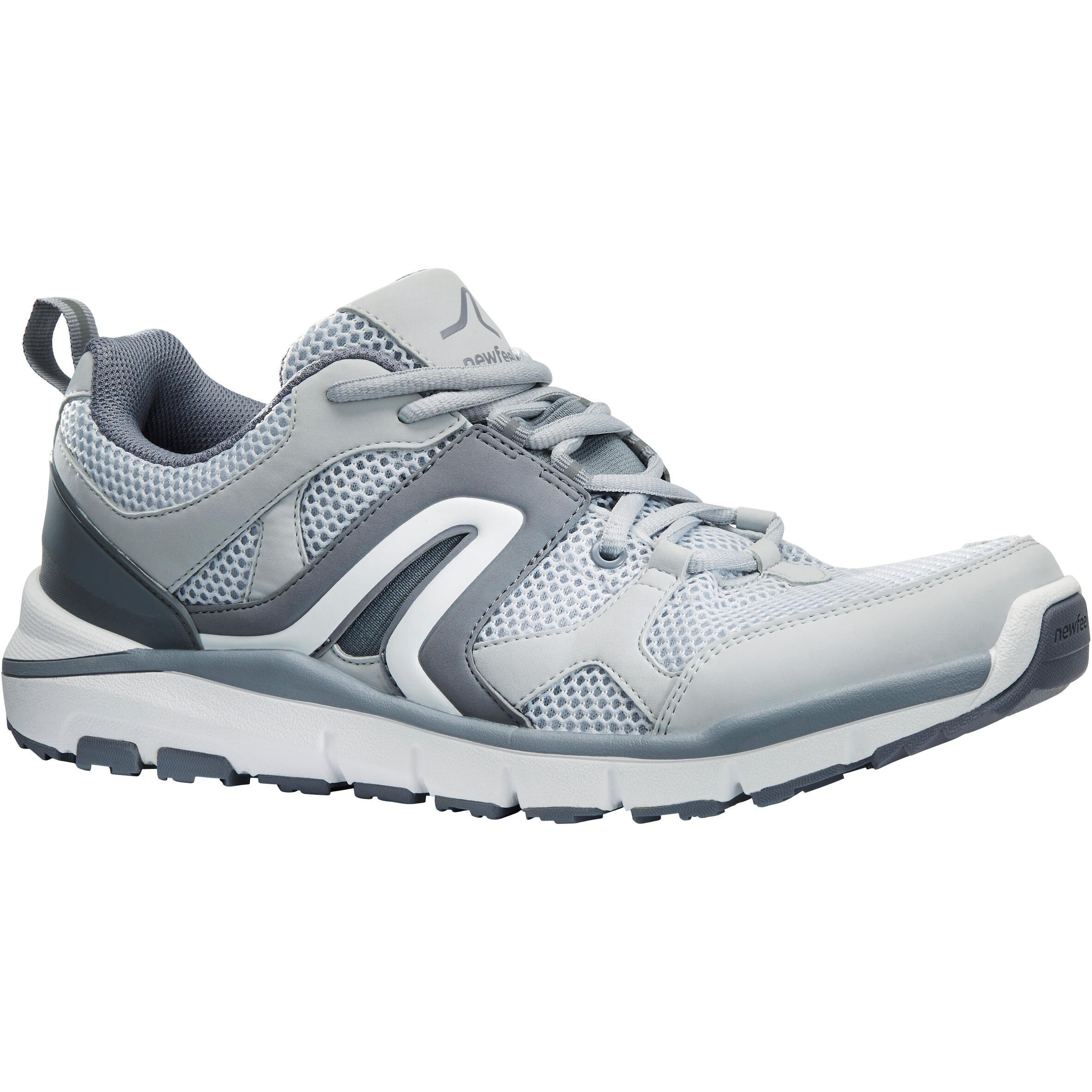 Copaya Herensneakers voor sportief wandelen HW 500 mesh grijs