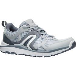 Zapatillas de marcha deportiva para hombre HW 500 mesh gris