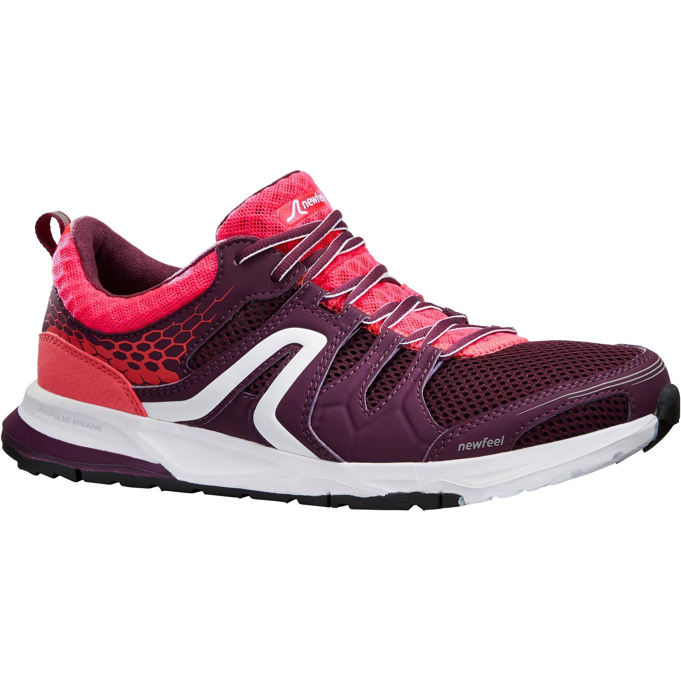 Walkingschuhe athletisches Gehen PW 240 Damen lila/rosa | Schuhe > Sportschuhe > Walkingschuhe | Violett - Rot - Rosa - Weiß | Newfeel