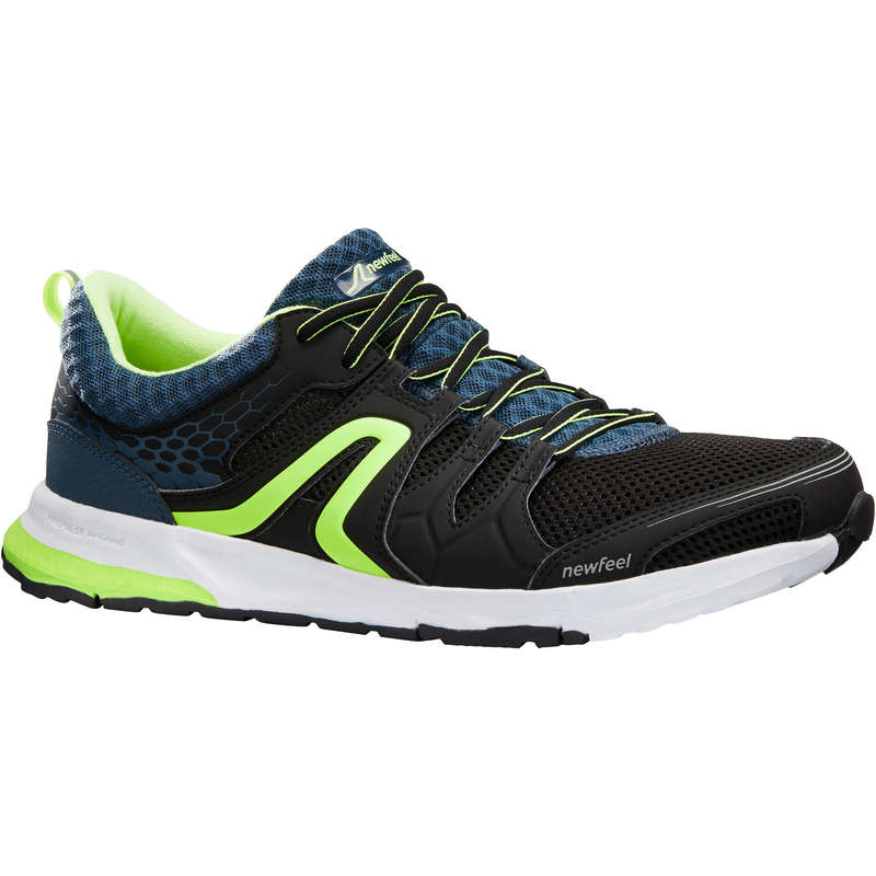 RACE WALKING SHOES Hiking - PW 240 black/yellow NEWFEEL - Outdoor Shoes