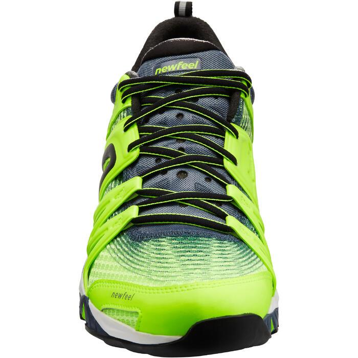 Herensneakers voor sportief wandelen PW 900 Propulse Motion fluogeel