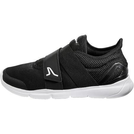Soft 180 Strap Fitness Walking Shoes - Black/White - Women's