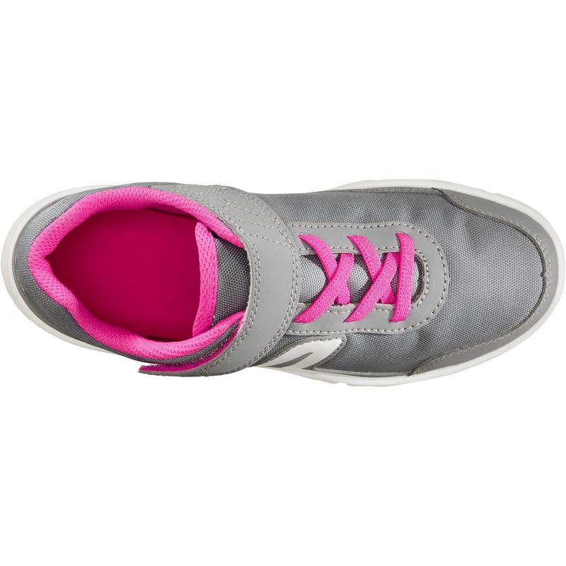 PW 100 Kids' Walking Shoes - Grey/Pink
