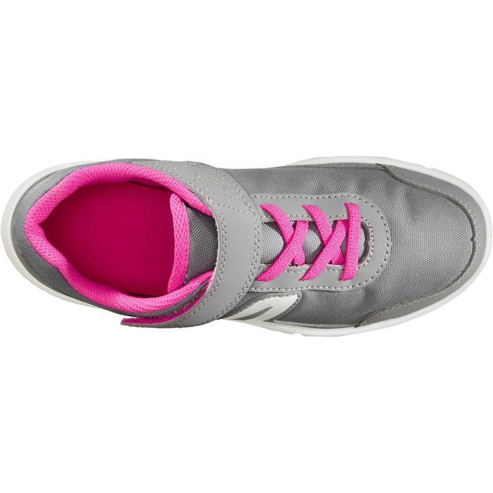 Chaussures marche sportive enfant PW 100 gris / rose