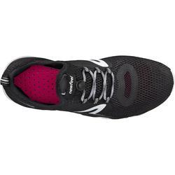 Damessneakers voor sportief wandelen PW 500 Fresh zwart/wit