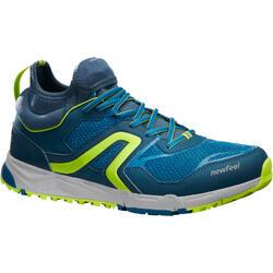 Nordic walking schoenen voor heren NW 500 pauwblauw/anijsgroen