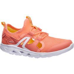 Zapatillas de marcha deportiva para niños PW 500 Fresh coral