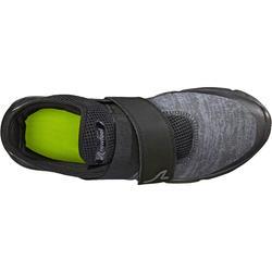 Soft 180 Strap Men's Fitness Walking Shoes - Black