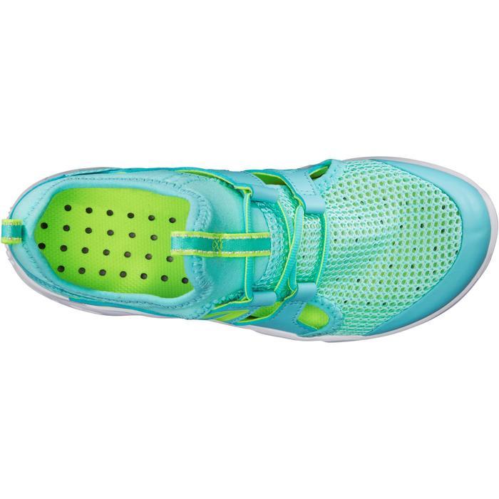 兒童款健走及校園運動鞋Fresh PW 500-淺碧藍色