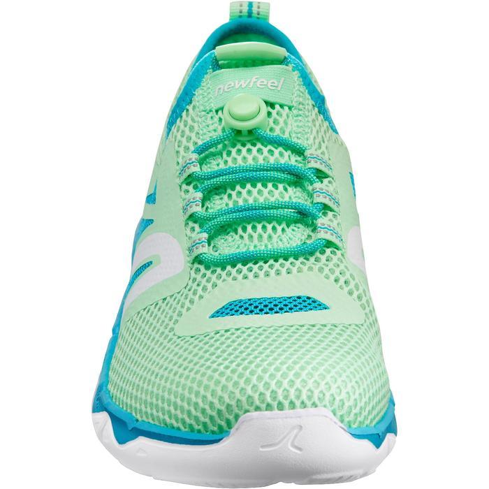 Damessneakers voor sportief wandelen PW 500 Fresh groen