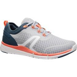 女款網眼健走鞋Soft 540-灰色/珊瑚紅