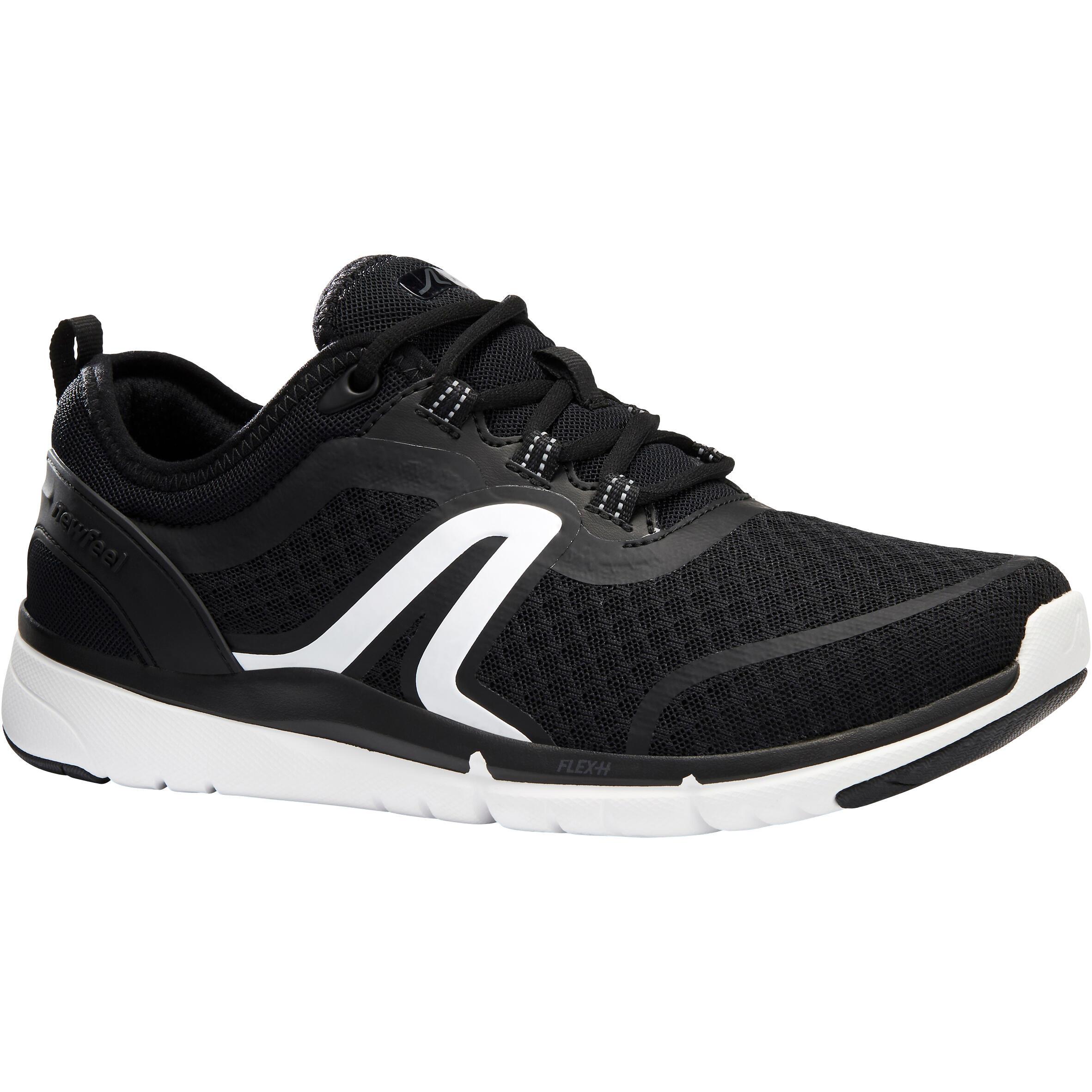 Tenis de caminata deportiva para mujer Soft 540 mesh negro / blanco
