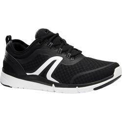 Zapatillas de marcha deportiva para mujer Soft 540 mesh negro / blanco