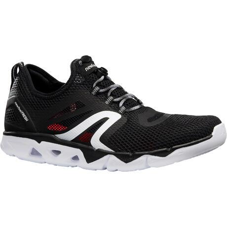 23485c85 Zapatillas de Marcha Deportiva Newfeel PW 500 transpirables hombre negro |  Newfeel