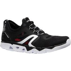 Walking Shoes for Men Fitness PW 500 fresh - Black
