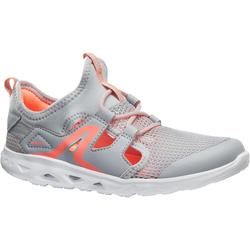 PW 500 Fresh Children's Fitness Walking Shoes - grey / coral