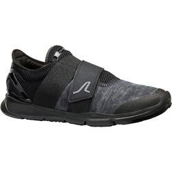 Zapatillas Caminar Newfeel Soft 180 Velcro Hombre Negro