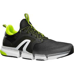PW 590 Xtense Men's Fitness Walking Shoes - Grey/Yellow